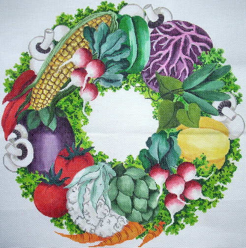 olive vegetable or fruit fruit wreath